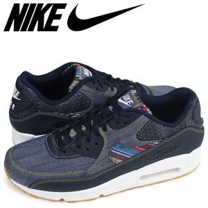 "Nike Air Max 90 Premium ""afro Punk Denim"" Size 7.5"
